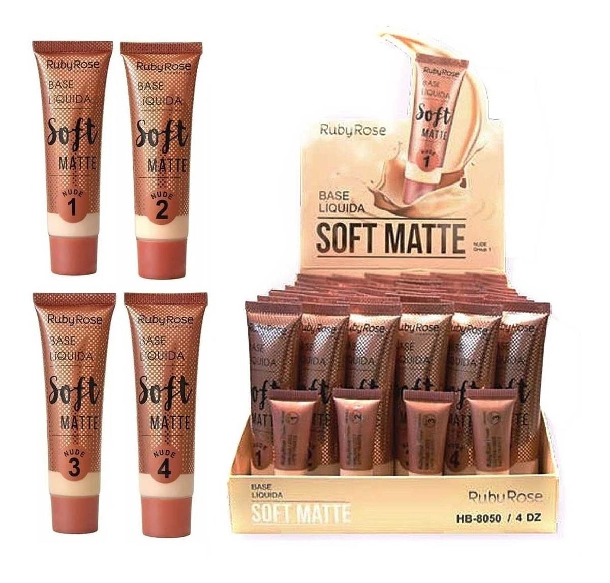 Base Líquida Soft Matte Bege 2-3-4-5-6-7-8 Ruby Rose Hb 8050